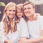 Дудина и Руденко с дочкой Милено