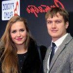 Елена Дудина с мужем