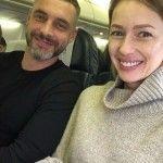 Лоза и Батырев в самолете